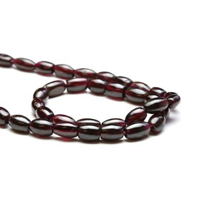Garnet Barrel Beads, Approx 8x4mm