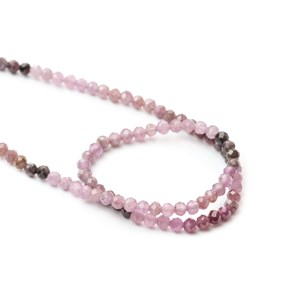 Shaded Pink Sapphire Rondelle Beads