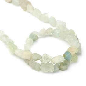 Aquamarine Rough Nugget Beads, Approx 5mm To 20mm