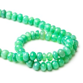 Chrysoprase Faceted Rondelle Beads, Approx 8x6mm