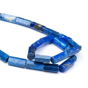 Lapis Lazuli Hexagonal Tube Beads, Approx 16x8mm