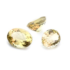 Citrine From 24x18mm To 26x20mm Oval Faceted Stone
