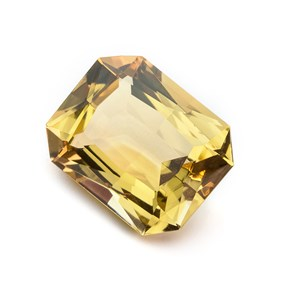 Citrine 23x18mm Octagon Faceted Stone