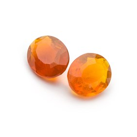 Fire Opal 11x9mm Oval Faceted Stone