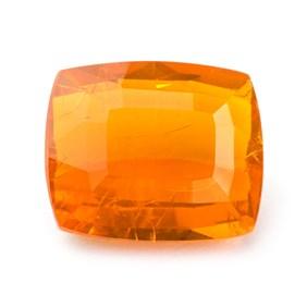 Fire Opal 12x10mm Cushion Cut Faceted Stone