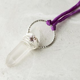Blossom Pink Festival Crystal Pendant