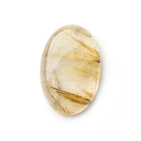 Golden Rutile Quartz 25.5x17mm Oval Cabochon