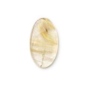 Golden Rutile Quartz 24.5x14mm Oval Cabochon