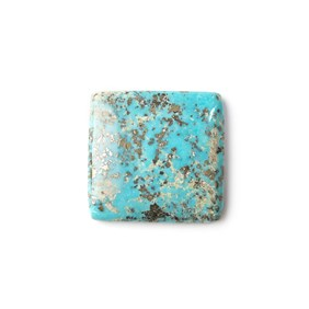 Untreated Natural Persian Turquoise Square Cabochon, Approx 22mm