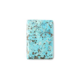 Untreated Natural Persian Turquoise Rectangular Cabochon, Approx 25.5x17mm