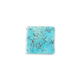 Untreated Natural Persian Turquoise Square Cabochon, Approx 18mm