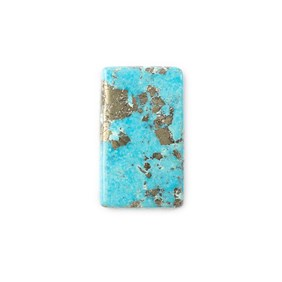 Untreated Natural Persian Turquoise Rectangular Cabochon, Approx 26x15.5mm