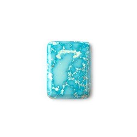 Untreated Natural Persian Turquoise Rectangular Cabochon, Approx 21.5x16.5mm