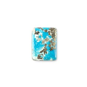 Untreated Natural Persian Turquoise Rectangular Cabochon, Approx 18.5x14mm