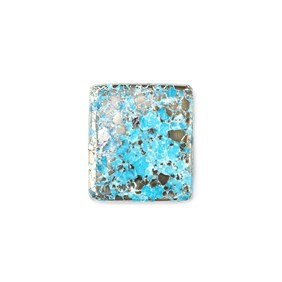 Untreated Natural Persian Turquoise Rectangular Cabochon, Approx 21.5x19mm