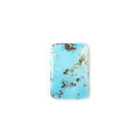Untreated Natural Persian Turquoise Rectangular Cabochon, Approx 20.5x14.5mm