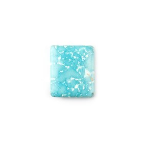 Untreated Natural Persian Turquoise Rectangular Cabochon, Approx 18.5x15.5mm