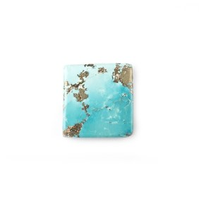 Untreated Natural Persian Turquoise Rectangular Cabochon, Approx 18.5x17.5mm