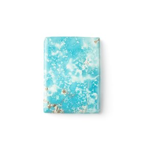 Untreated Natural Persian Turquoise Rectangular Cabochon, Approx 16x15.5mm