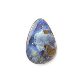 Australian Boulder Opal Approx 16x11mm Head Drilled Focal Pendant