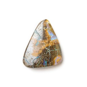 Australian Boulder Opal Approx 17x13.5mm Head Drilled Focal Pendant