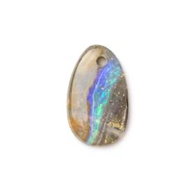 Australian Boulder Opal Approx 12.5x7.5mm Head Drilled Focal Pendant