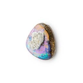 Australian Boulder Opal Approx 11x9mm Top Drilled Focal Pendant