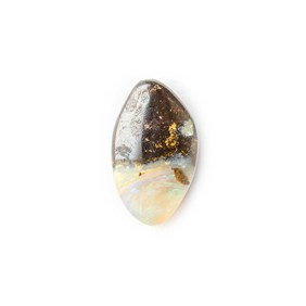 Australian Boulder Opal Approx 13x8mm Top Drilled Focal Pendant