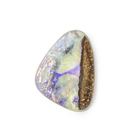 Australian Boulder Opal Approx 15.5x11.5mm Top Drilled Focal Pendant