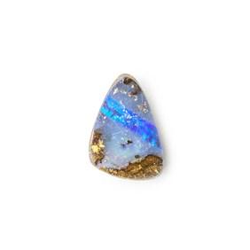Australian Boulder Opal Approx 14x10mm Top Drilled Focal Pendant