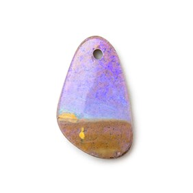 Australian Boulder Opal Approx 16x9.5mm Head Drilled Focal Pendant