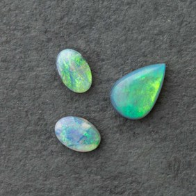 Set of Three Solid Opal Cabochons