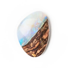 Australian Boulder Opal Approx 15.5x15mm Top Drilled Focal Pendant