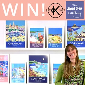 John Dyer Giveaway: Win Framed Poster Of Cornwall