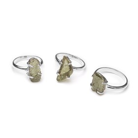 Ready To Wear Sterling Silver Moldavite Ring