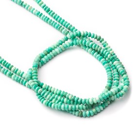 Turquoise Matt Finished Mini Rondelle Beads, Approx 2x1mm