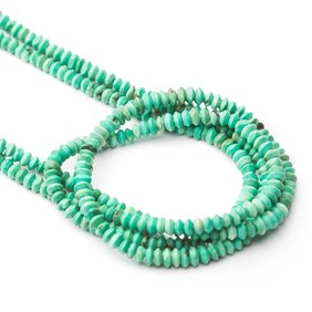 Turquoise Matt Finished Rondelle Beads, Approx 2.5x1.5mm