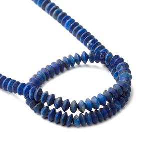 Lapis Lazuli Matt Finished Rondelle Beads, Approx 4x1.5mm To 4.5x3mm