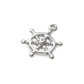 Sterling Silver Nautical Ships Wheel Charm