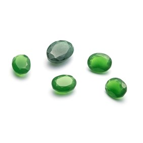 Green Aventurine Faceted Stones, 18x13mm Oval