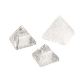 Crystal Quartz Carved Pyramid