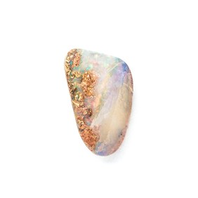 Premium Australian Free Form Wood Pipe Opal, Approx 19x11mm
