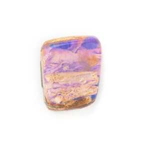 Premium Australian Free Form Wood Pipe Opal, Approx 11.5x10mm
