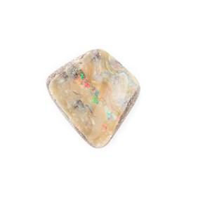 Australian Free Form Boulder Opal, Approx 15.5x14mm