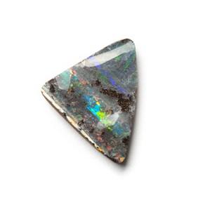 Australian Free Form Boulder Opal, Approx 18x19mm