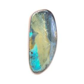 Australian Free Form Boulder Opal, Approx 29.5x13mm