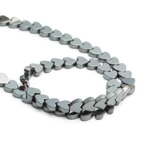 Hematite Heart Beads, 5mm
