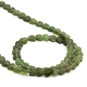 Jade Heart Beads, 5mm