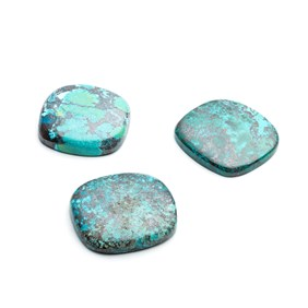 Chrysocolla Cushion Cut Cabochons
