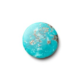 Untreated Natural Persian Turquoise Round Cabochon, Approx 24.5mm